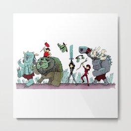 Trollhunters Parade Metal Print