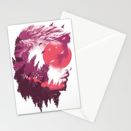 Head with forest as a shadow Stationery Cards