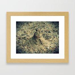 Sand Mound Framed Art Print