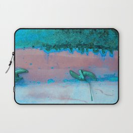 Rusted Middle Mauve and Turquoise Laptop Sleeve