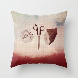 Paper Scissors Stone Throw Pillow