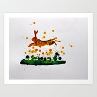 hare Art Prints featuring Hare by Condor