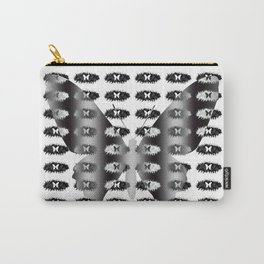 Butterflies pattern in black and white Carry-All Pouch