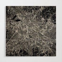 Berlin Black Map Wood Wall Art