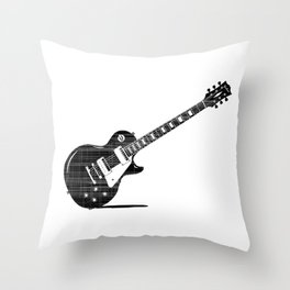 Black Guitar Throw Pillow