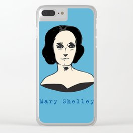 Mary Shelley, hand-drawn portrait Clear iPhone Case