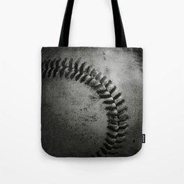Black and white Baseball Tote Bag