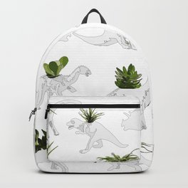 Dino and Cacti on White Backpack