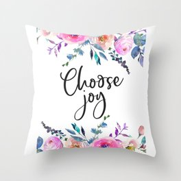 Choose Joy, Nursery Wall Art, Inspirational Quotes, Typography Print, Typography Wall Art Throw Pillow