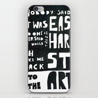 coldplay iPhone & iPod Skins featuring stART by Ines92