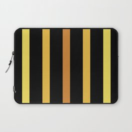 Yellow and Black Abstract Art Piece Laptop Sleeve