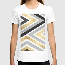 Gray and gold composition I T-shirt