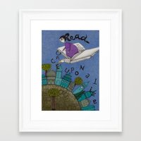 read Framed Art Prints featuring Read by Judith Clay