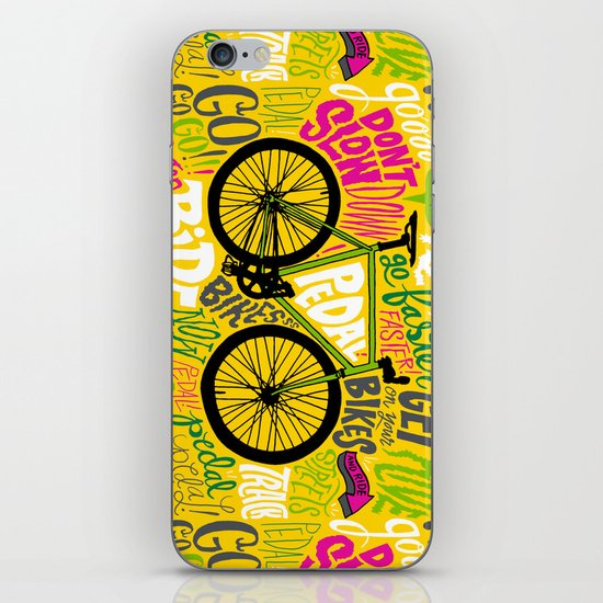 RIDE YOUR BIKES iPhone & iPod Skin