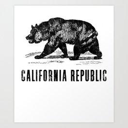 Vintage California State Flag product Art Print