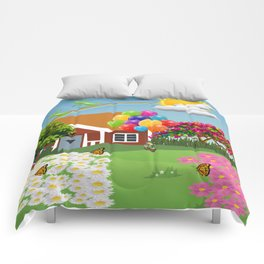 Paisaje color Comforters