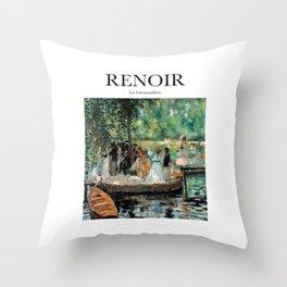 Renoir - La Grenouillère Throw Pillow