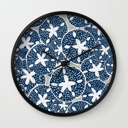 Sand Dollars, Sea Shells on the Beach Wall Clock
