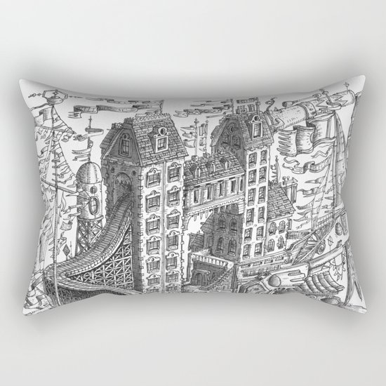 The Fantastic Flying Boat Ship Rectangular Pillow