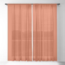 Simply Orange Solid Color Sheer Curtain