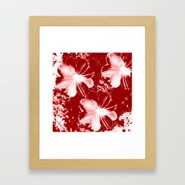 Burgundy Flowers Framed Art Print