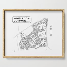 Wimbledon Common Cross-Country Course Map Serving Tray