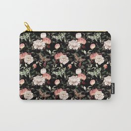 Floral and Flutter Pattern Carry-All Pouch