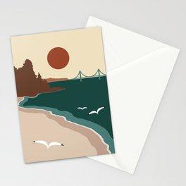 Minimalist Michigan Vintage Sunset Stationery Cards