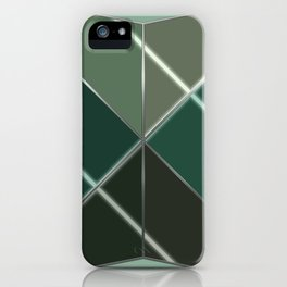 Mosaic tiled glass with a laser show iPhone Case