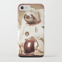sloth iPhone & iPod Cases featuring Sloth Astronaut by Bakus