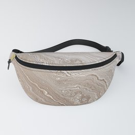 Gold Agate Geode slice Fanny Pack