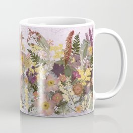 Pressed Flower English Garden Coffee Mug