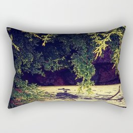 Yellow Wood in Shade Rectangular Pillow
