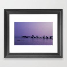 The Pier, Lake Garda  Framed Art Print