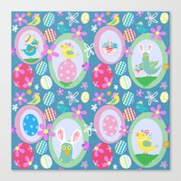 easter Canvas Prints featuring Easter  by Art Tree Designs