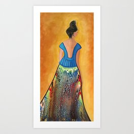 Turning Her Back on the Past Art Print