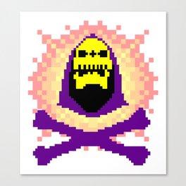 Skeletor Pixeletor Canvas Print