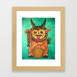 Krampus Cutie Framed Art Print