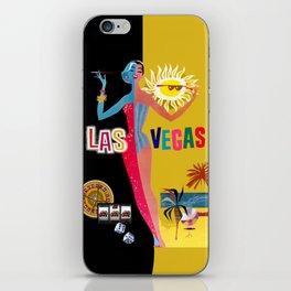 Loving Las Vegas | vintage black & gold iPhone Skin
