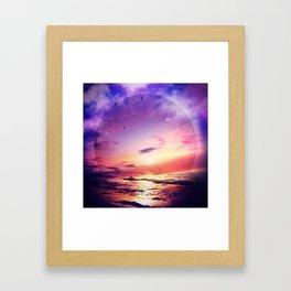 Neon Beach Framed Art Print