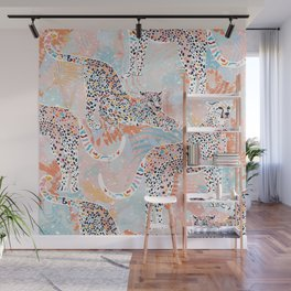 Colorful Wild Cats Wall Mural
