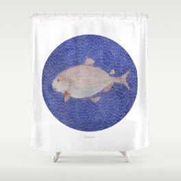 Salmon Shower Curtain