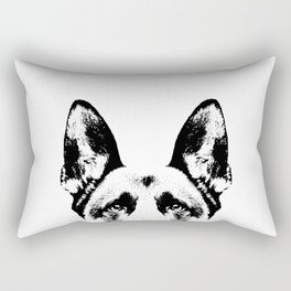 German Shepherd Dog Rectangular Pillow