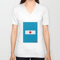 dexter V-neck T-shirts featuring Dexter - Minimalist by Marisa Passos