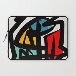 Street art abstract portrait pop Laptop Sleeve