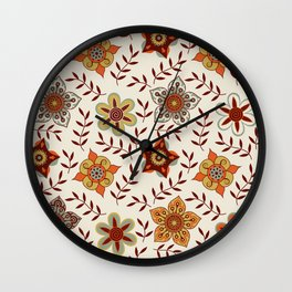 Flower Mix Repeat Wall Clock