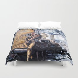 Solas leaves Duvet Cover