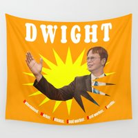 dwight Wall Tapestries featuring Dwight Schrute  |  The Office by Silvio Ledbetter
