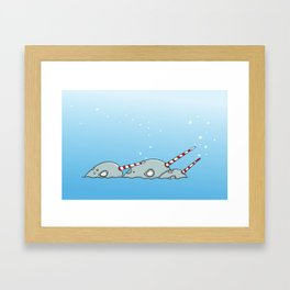 Narwhal magic Framed Art Print