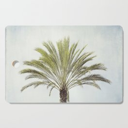 Palm Tree Photography, California Beach Coastal Art, Palm Trees Sky Cutting Board